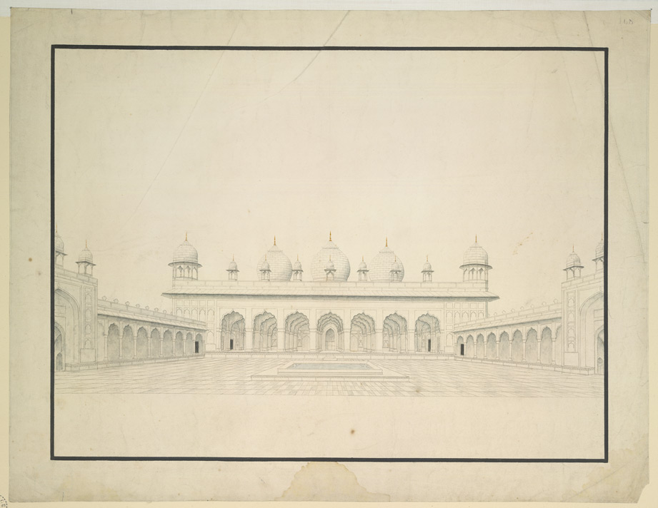 Pearl Mosque (Moti Masjid) at Agra